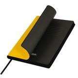 Ежедневник недатированный Portobello Trend, Latte NEW,  желтый/черный фото