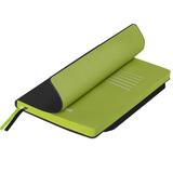 Ежедневник недатированный Portobello Trend Space, 145х210, 256стр, черный/св.зеленый, гибкая обложка фото