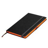 Ежедневник недатированный Portobello Trend Space, черный/оранжевый (без ленты, стикер) фото