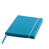 Ежедневник недатированный Shady А5, 272 стр., кремовый блок, лазурный обрез, голубой фото