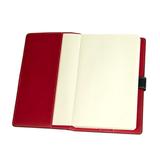 Ежедневник-портфолио недатированный Holder, А5, кремовый блок, без обреза, черный/красный фото