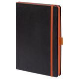 Ежедневник Tone, недатированный, черный с оранжевым фото