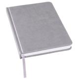 Ежедневник недатированный Bliss А5, серый, белый блок, без обреза фото