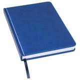 Ежедневник недатированный Bliss А5, синий, белый блок, без обреза фото