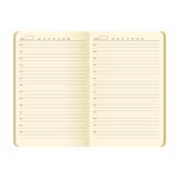 Ежедневник недатированный Portobello Trend River side, синий/ оранжевый фото