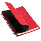 Ежедневник недатированный Portobello Trend, Vista, черный/красный фото