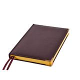 Ежедневник полудатированный Rarity, A5, рециклированная кожа, кремовый блок, подарочная упаковка, темно-бордовый фото