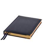 Ежедневник полудатированный Rarity, A5, рециклированная кожа, кремовый блок, подарочная упаковка, темно-синий фото