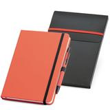 Блокнот Advance с ручкой, 80 стр., красный с черным фото