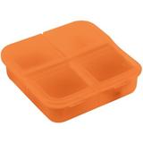 Таблетница Gesund, 4 отделения, оранжевая фото