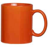 Фаянсовая кружка, оранжевая фото