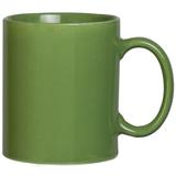 Фаянсовая кружка, зеленая фото