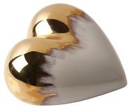 Фарфоровое сердце Gold Rain фото