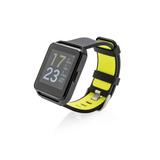 Фитнес-часы с цветным дисплеем, черный, зеленый фото
