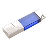 Флешка Акрил премиум, металл/акрил, синяя, 32 Гб фото