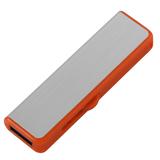 Флешка Ferrum, серебристая с оранжевым, 8 Гб фото
