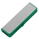 Флешка Ferrum, серебристая с зеленым, 8 Гб фото