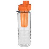 Фляга, 700 мл., с сепаратором, оранжевый/прозрачный фото
