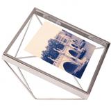 Фоторамка prisma 10х10 хром, серебряный/серый фото