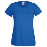 Футболка женская Fruit of the Loom Lady-Fit Valueweight T, синяя фото