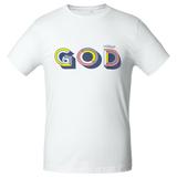 Футболка мужская «Новый GOD», белая фото