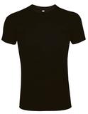Футболка мужская Sol's Imperial Fit 190, приталенная, черная фото