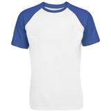Футболка мужская T-bolka Bicolor, белая с синим фото