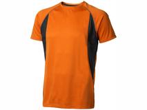 Футболка Elevate Quebec Cool Fit мужская, 145 г/м2, оранжевый/черный фото