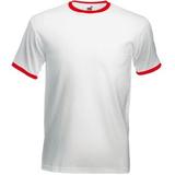Футболка Ringer T, белый с красным фото