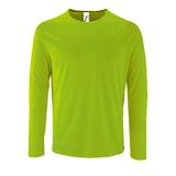 Футболка с длинным рукавом SPORTY LSL MEN, неоново-зеленая фото