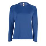 Футболка с длинным рукавом SPORTY LSL WOMEN, ярко-синяя фото