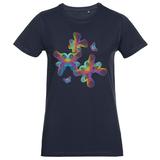 Футболка женская Butterflies, темно-синяя фото