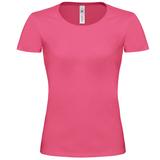 Футболка женская B&C Exact 190 Top, розовая фото