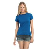 Футболка женская Exact 190, ярко-синяя фото