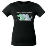 Футболка женская Крокодилобегемоты, черная фото