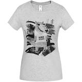 Футболка женская «Волка футболка», серый меланж фото