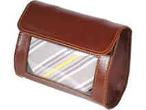 Футляр для галстука Alessandro Venanzi, коричневый фото