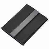 Футляр для карт, кожа искусственная, металл, черный фото