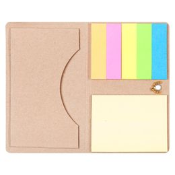 Футляр для визитки Eco holder с клейкими листочками, бурый фото