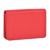 Футляр для визиток  Триест,  9.5*7 см,  красный, кожа, подарочная упаковка фото