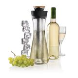 Графин для белого вина Gliss с кулером, черный фото