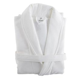 Халат банный белого цвета, белый фото
