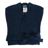 Халат из умягченного льна темно-синего цвета, синий фото
