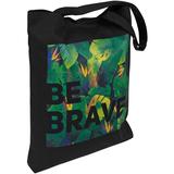Холщовая сумка «Будь храбрым!», черная фото