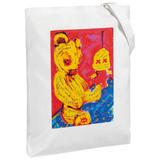 Холщовая сумка I don't see you, молочно-белая фото