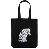 Холщовая сумка Like a Tiger, черная фото