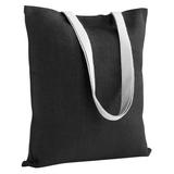 Холщовая сумка на плечо Juhu, черная фото