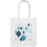 Холщовая сумка «Ромбы», белая фото
