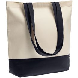 Холщовая сумка Shopaholic, темно-синяя фото