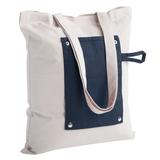 Холщовая сумка Dropper, складная, синяя фото